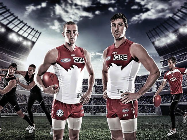 footy advertising and campaign photos